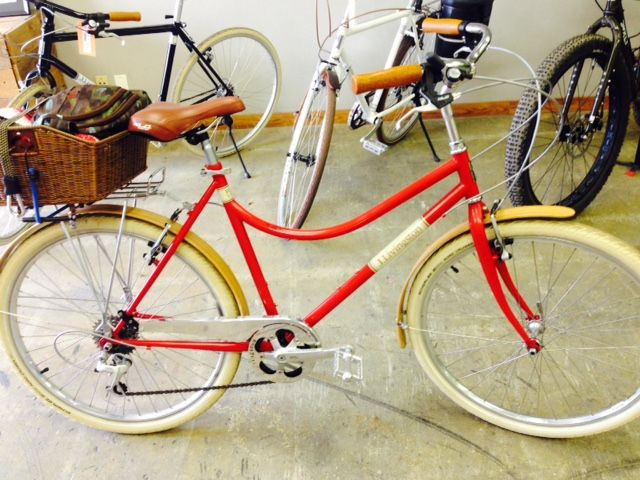 Red Never Goes Out Of Style Along With Bamboo Fenders Market Bikes Are All The Rage Vintage Bicycles Bicycle Bike