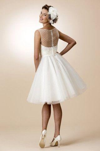 Fifties style short retro bridal dress by True Bride ...