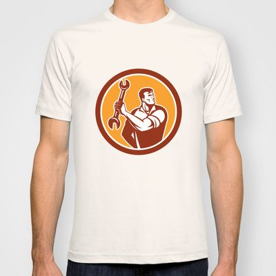 Buy Mechanic Clinching Spanner Wrench Circle Retro by Patrimonio as a high quality T-shirt. Worldwide shipping available at Society6.com. Just one of…
