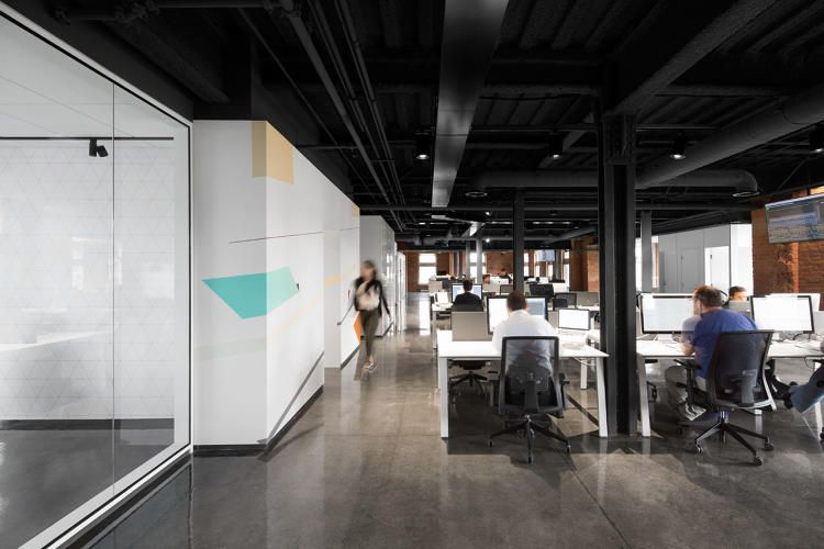 The most beautiful tech office of the year three floor for Modern tech office design
