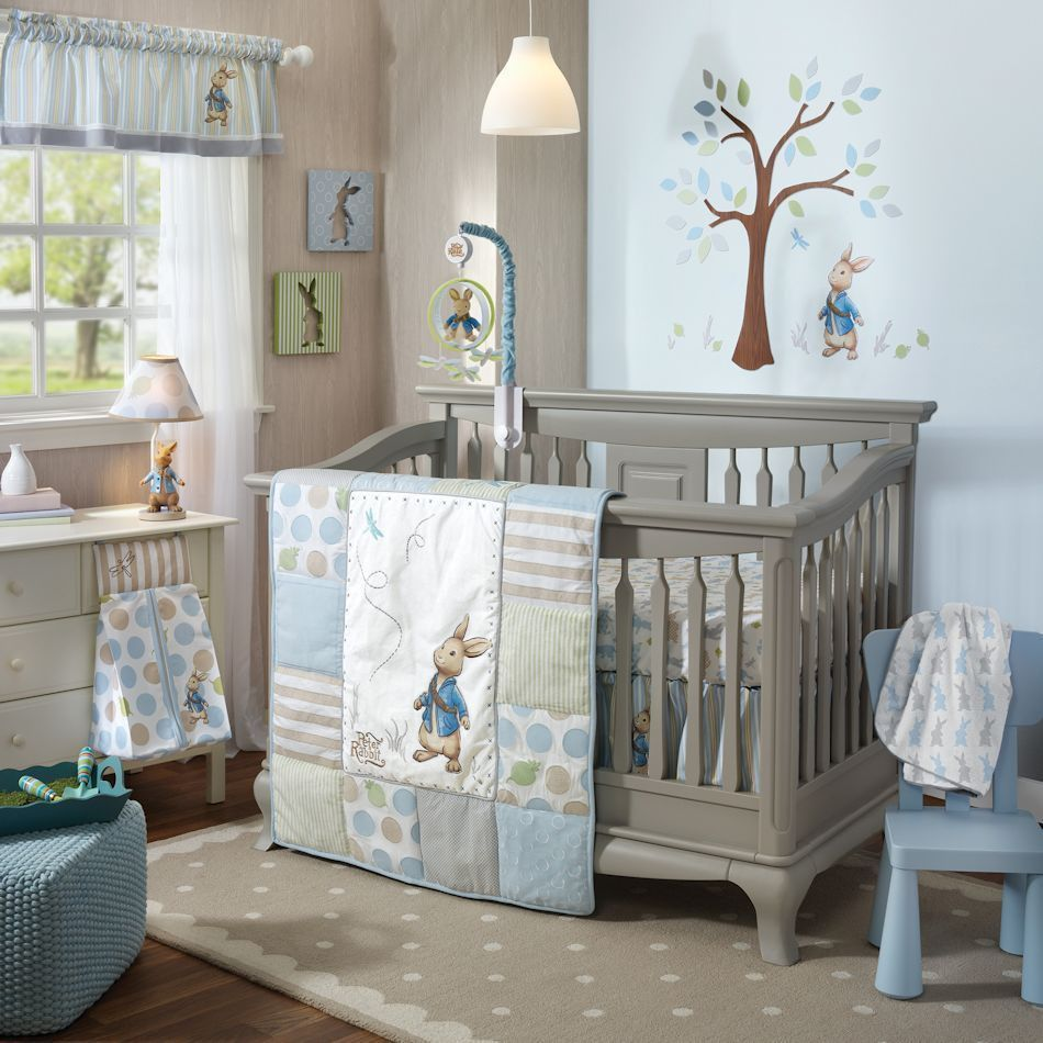 Lambs Ivy Peter Rabbit 6 Piece Baby Nursery Crib Bedding Set W Per Mobile 1 Each