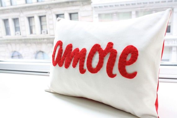 amore pillow in red italian love by honeypiedesign on etsy 3900 - Valentine Pillow