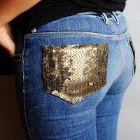 Poche jeans DIY SEQUIN POCKET JEANS