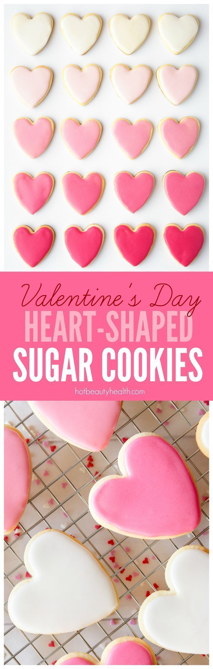 Valentine s Day Heart Shaped Sugar Cookies Recipe Valentine s Day Heart Shaped Sugar Cookies Recipe