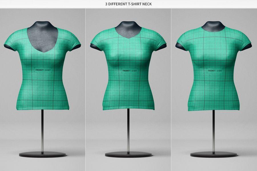 Female T Shirt Mannequin Mockup Free Design Resources Tshirt Designs Female Shirts