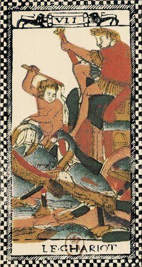 VII il Carro | Tarocco Parigino (sec. XVII)