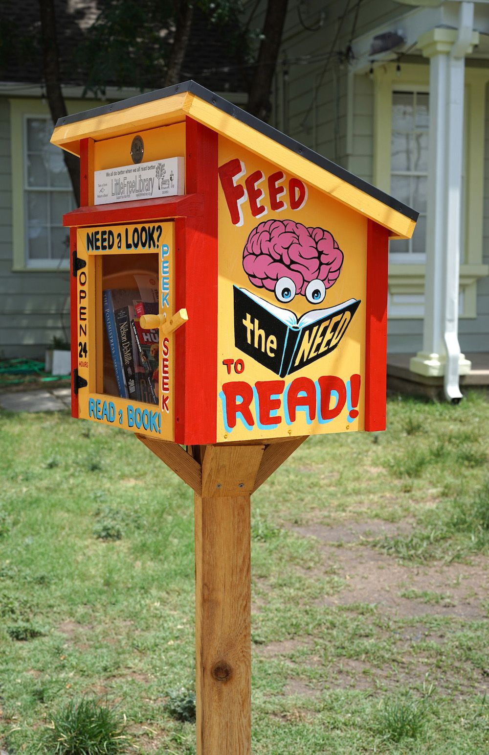 Image 2. Each Little Free Library is built differently