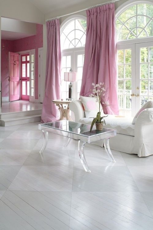 Pop of Pink living room
