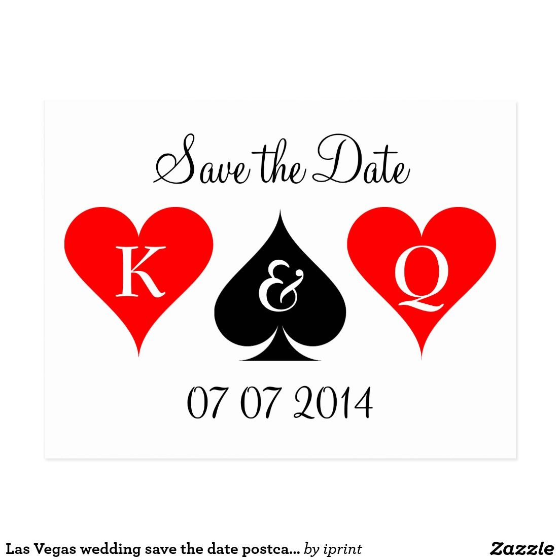 Las Vegas wedding save the date postcards | Las vegas weddings ...
