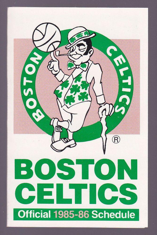 1985 86 Boston Celtics Bank Of Boston Basketball Pocket Schedule Free Shipping Schedule Boston Celtics Boston Basketball Celtic