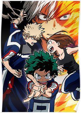My Hero Academia Poster My Hero Academia 2 My Hero Boku No Hero Academia