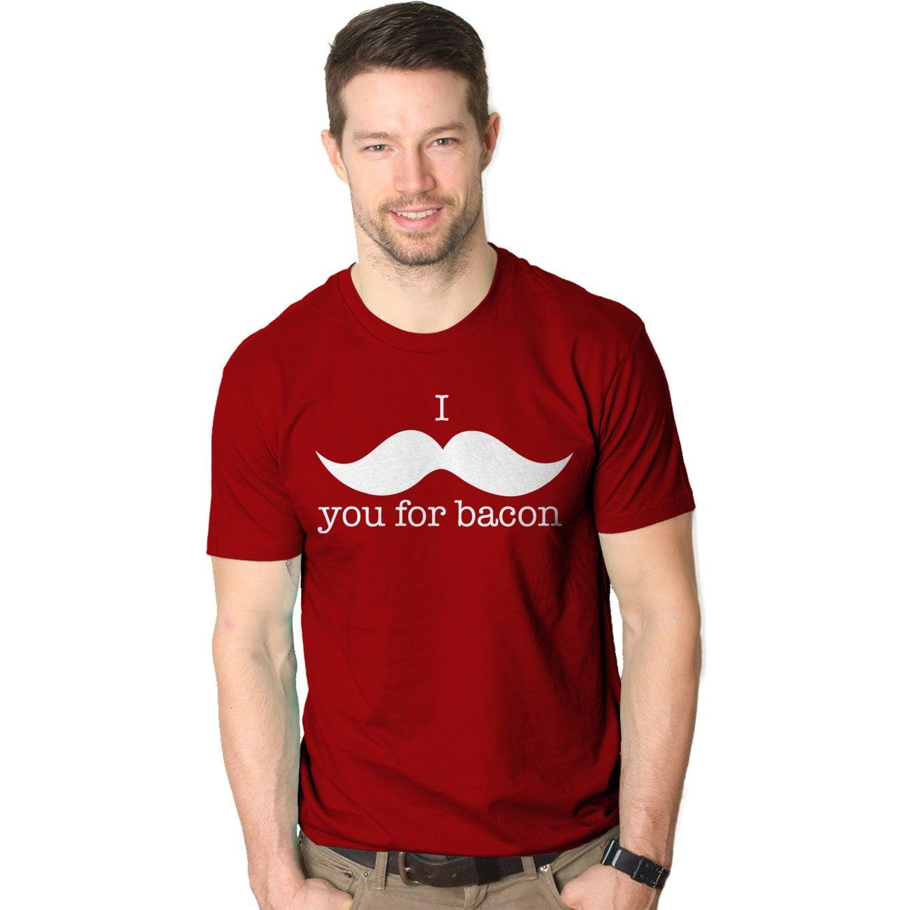 Leg day t shirts men s polo shirt slim - I Mustache You For Bacon T Shirt Funny Bacon Shirt Mustache Tee By Crazy Dog T Shirts Men S