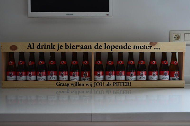 Al drink je bier aan de lopende meter, graag willen we jou als peter! <3 www.zoetgeluk.be <3
