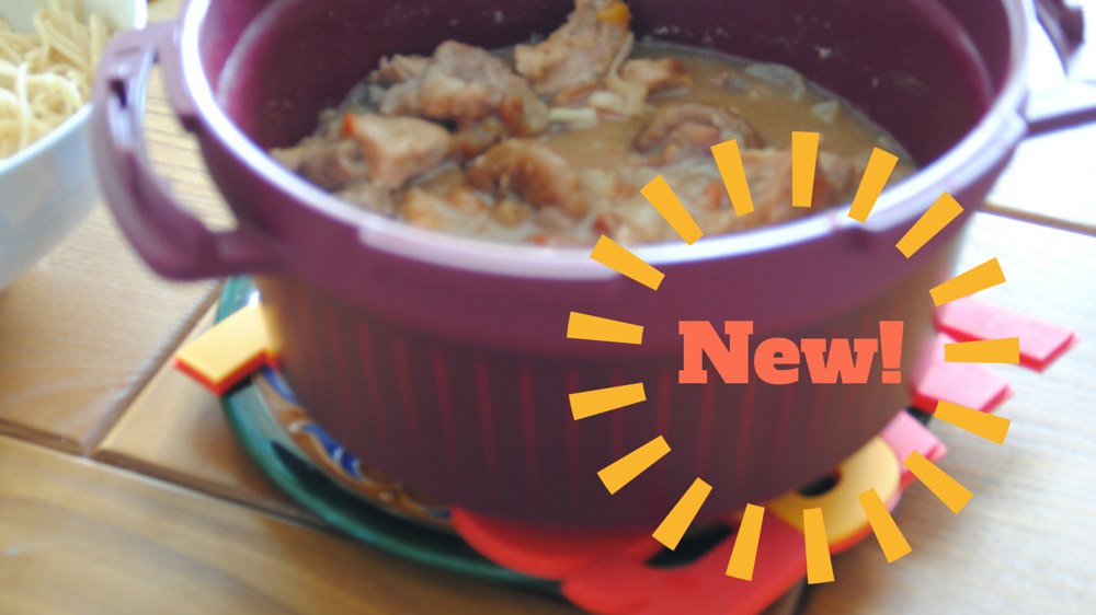 Recette la daube de porc avec le micro minute de tupperware cooker microwave pressure - Saute de porc cocotte minute ...