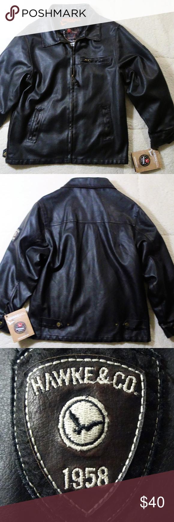 Nwt Hawke Co Faux Leather Bomber Jacket Sz 14 16 Bomber Jacket Faux Leather Bomber Jacket Jackets [ 1740 x 580 Pixel ]