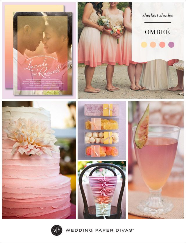 Ombre Wedding Inspiration Board