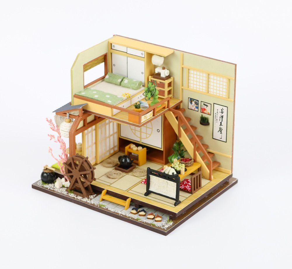 Trouver plus Poupée Maisons Informations sur CUTEBEE BRICOLAGE Maison de  Poupée En Bois Poupée Maisons Miniature 996b3207761c