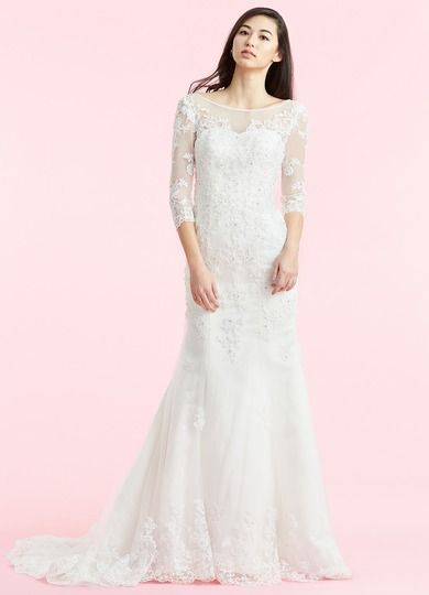 29c1eee6eff AZAZIE DOROTHY BG. Dress Dorothy BG by Azazie is a simple tulle wedding  dress featuring an illusion neckline on a court train trumpet mermaid skirt.