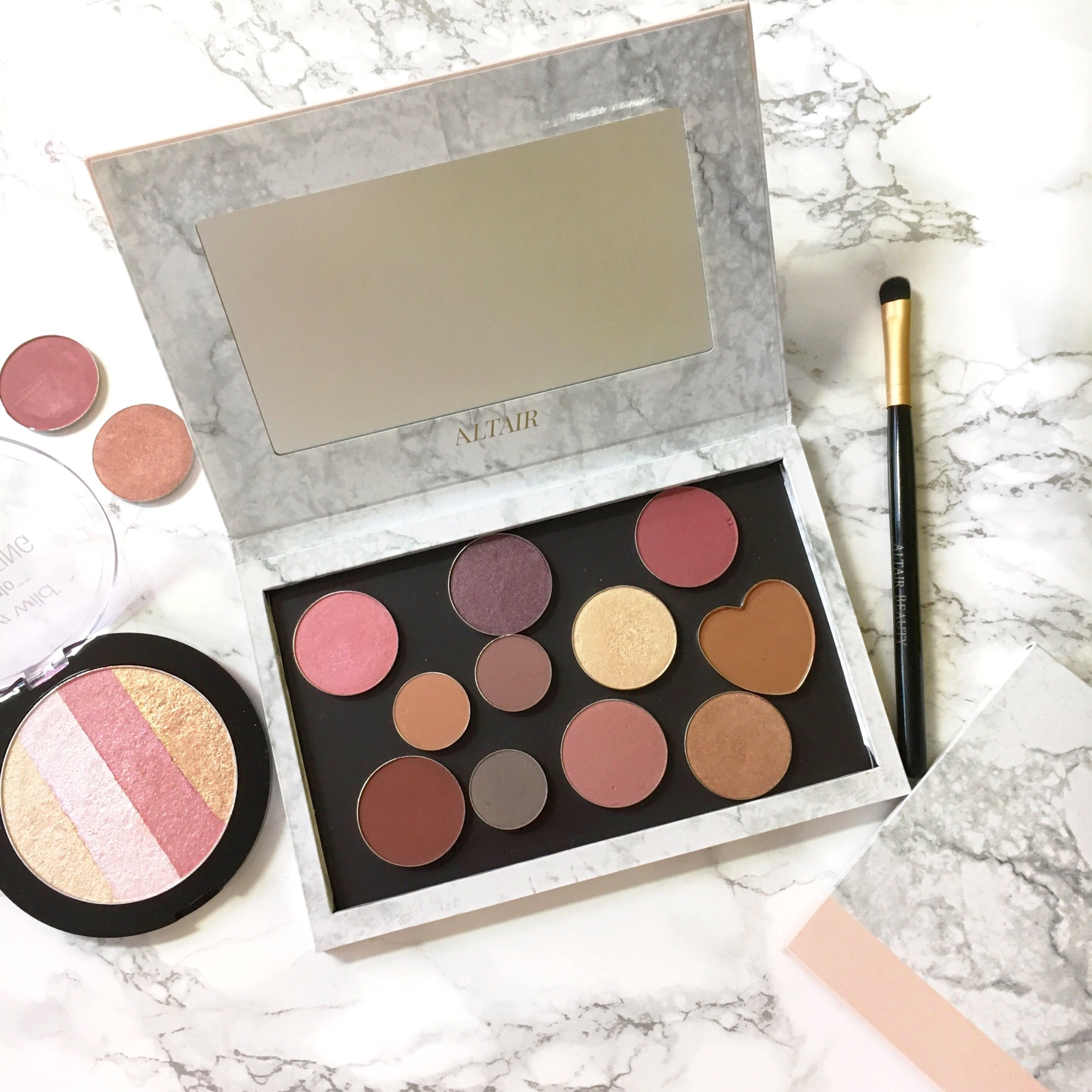 Empty makeup palette from Altair Beauty. Custom