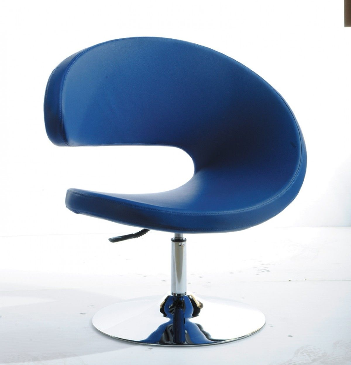 Modrest Adara Modern Blue Leatherette Lounge Chair Modern Lounge