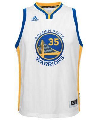 103d8ecd8986 adidas Kids  Kevin Durant Golden State Warriors New Swingman Jersey - White  XL