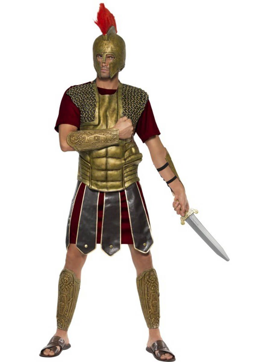 Disfraz de valiente gladiador romano para hombre c172e80f0fe1