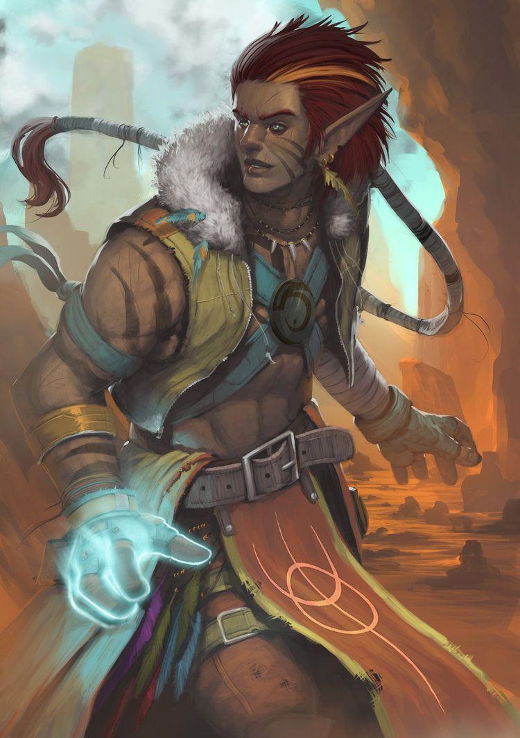 Tribal Elf by orochi-spawn deviantart com on @DeviantArt