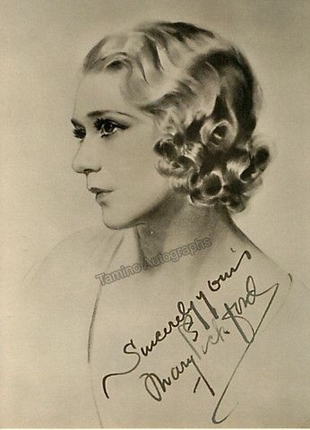 Pickford Mary Signed Photo Silent Film Stars Silent