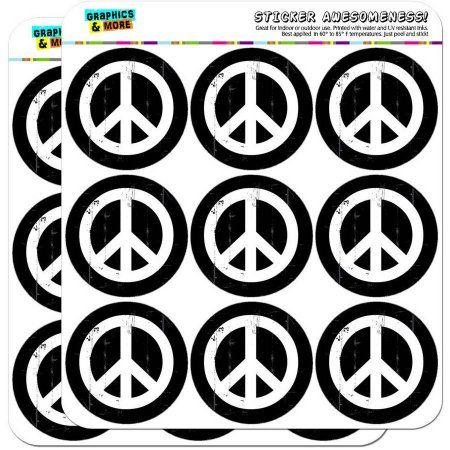 Artsy Peace Sign Symbol Black White 18 2 Inch Planner Calendar