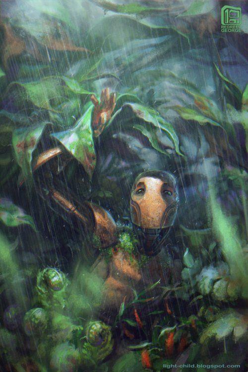 As ilustrações de fantasia e ficção científica de George Redreev