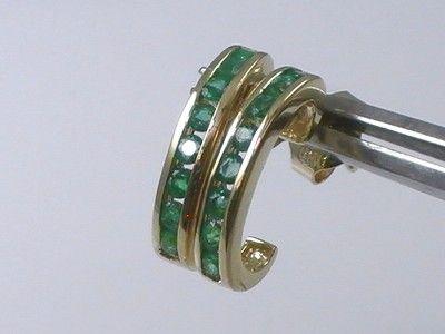 14K Gold Emerald Earrings *** 0.54ct Emerald 14K Gold Earrings $99