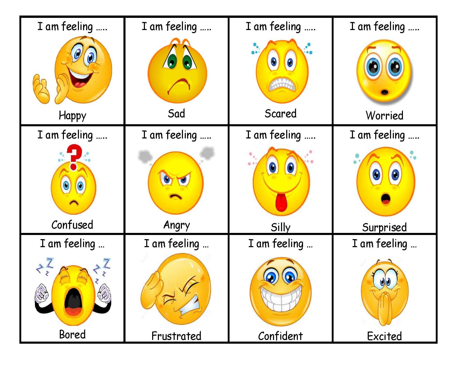 emotion cards created to help SEN students express how ...