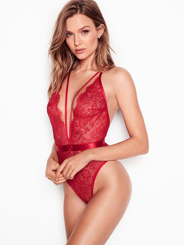 6285932e0c Very Sexy Strappy Plunge Teddy | Products in 2019 | Lingerie ...