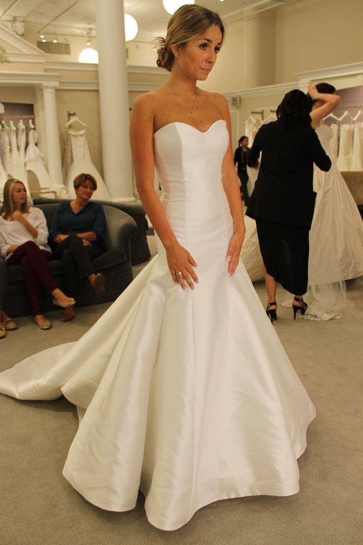white or ivory wedding dress for blonde hair | wedding dress