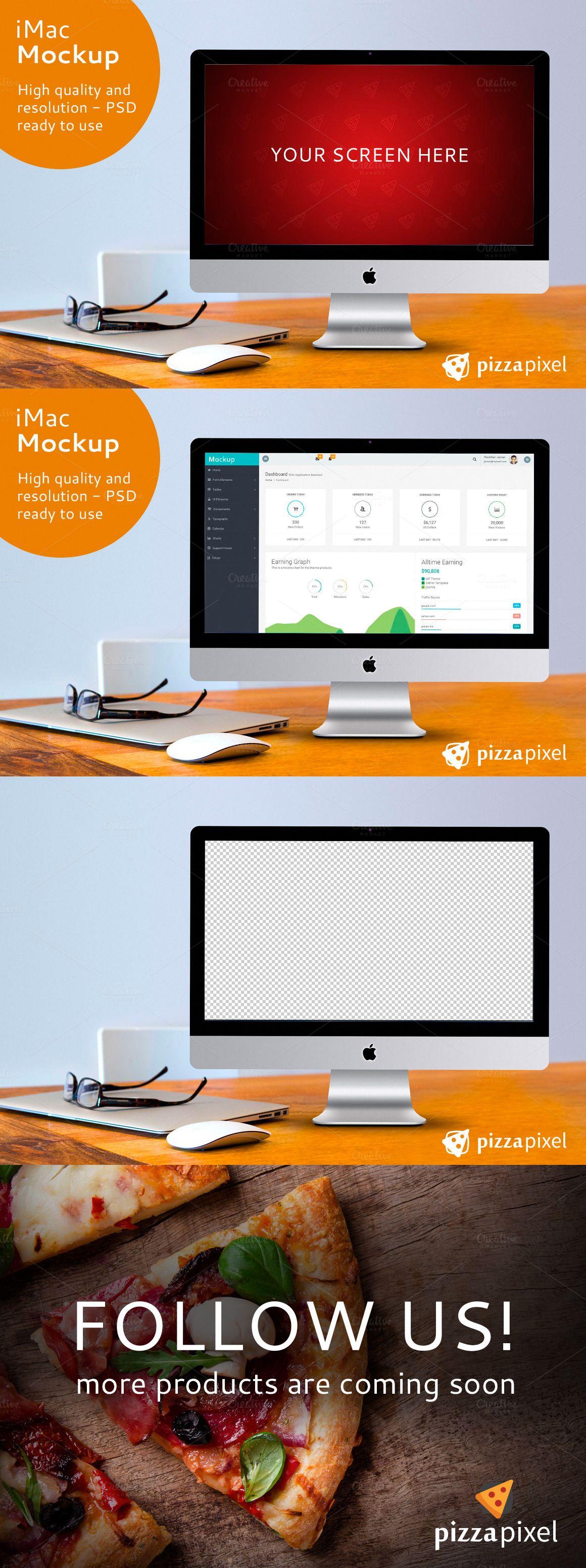 iMac Screen Mockup PSD File | Pinterest