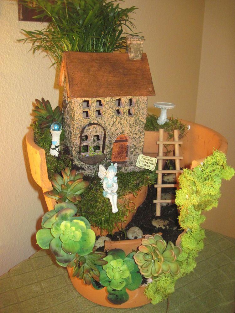 my first fariy garden, container gardening, gardening, home decor