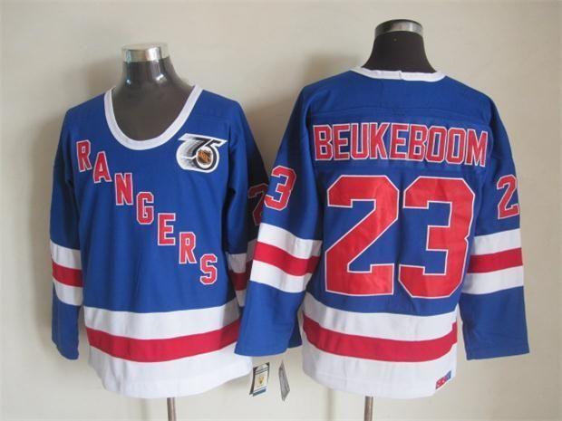 NHL Throwback Jersey New York Rangers  23 beukeboom blue Jersey ... f053331d3c1