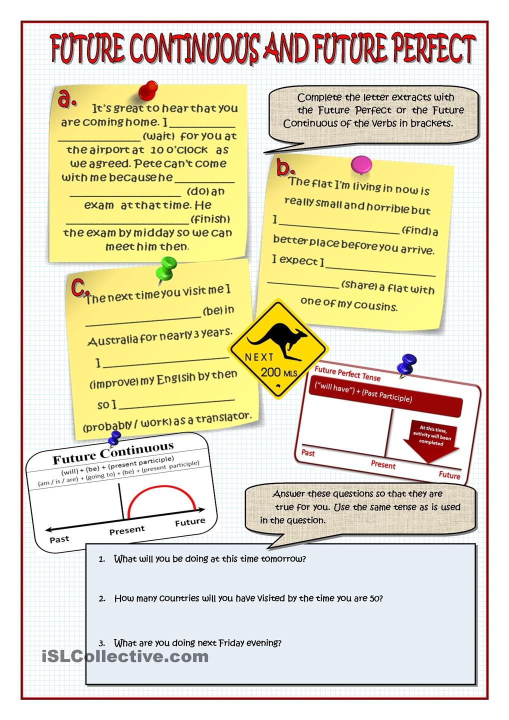 worksheet Perfect Verb Tense Worksheet future perfect and continuous pinterest continuous