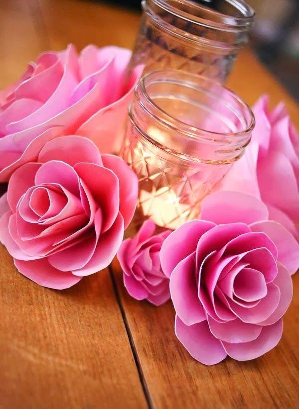 Bellas flores askartelumalleja pinterest diy flowers and craft how to make paper flowers video tutorial on site a beautiful mess mightylinksfo