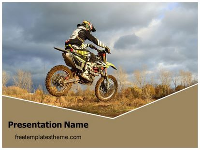 Download Free Dirt Bike Sports Powerpoint Template For Your