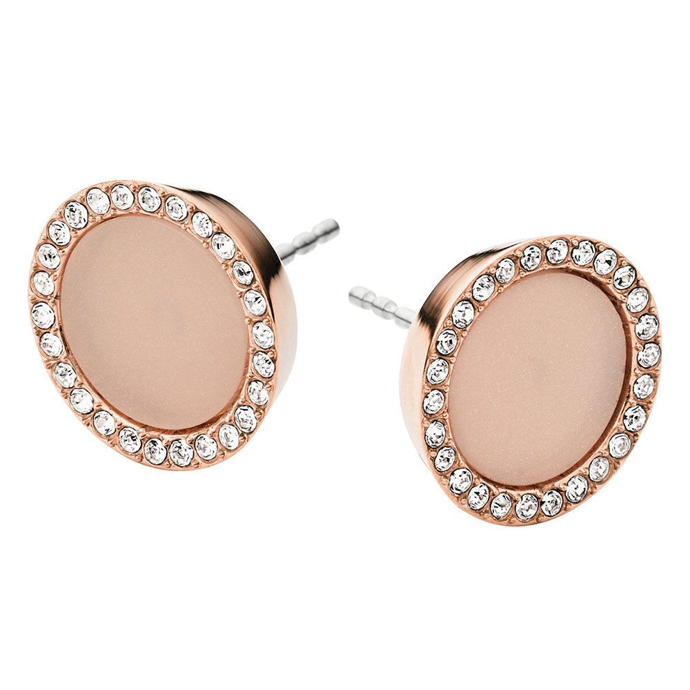 Beaverbrooks Michael Kors Rose Gold Tone Crystal Stud Earrings