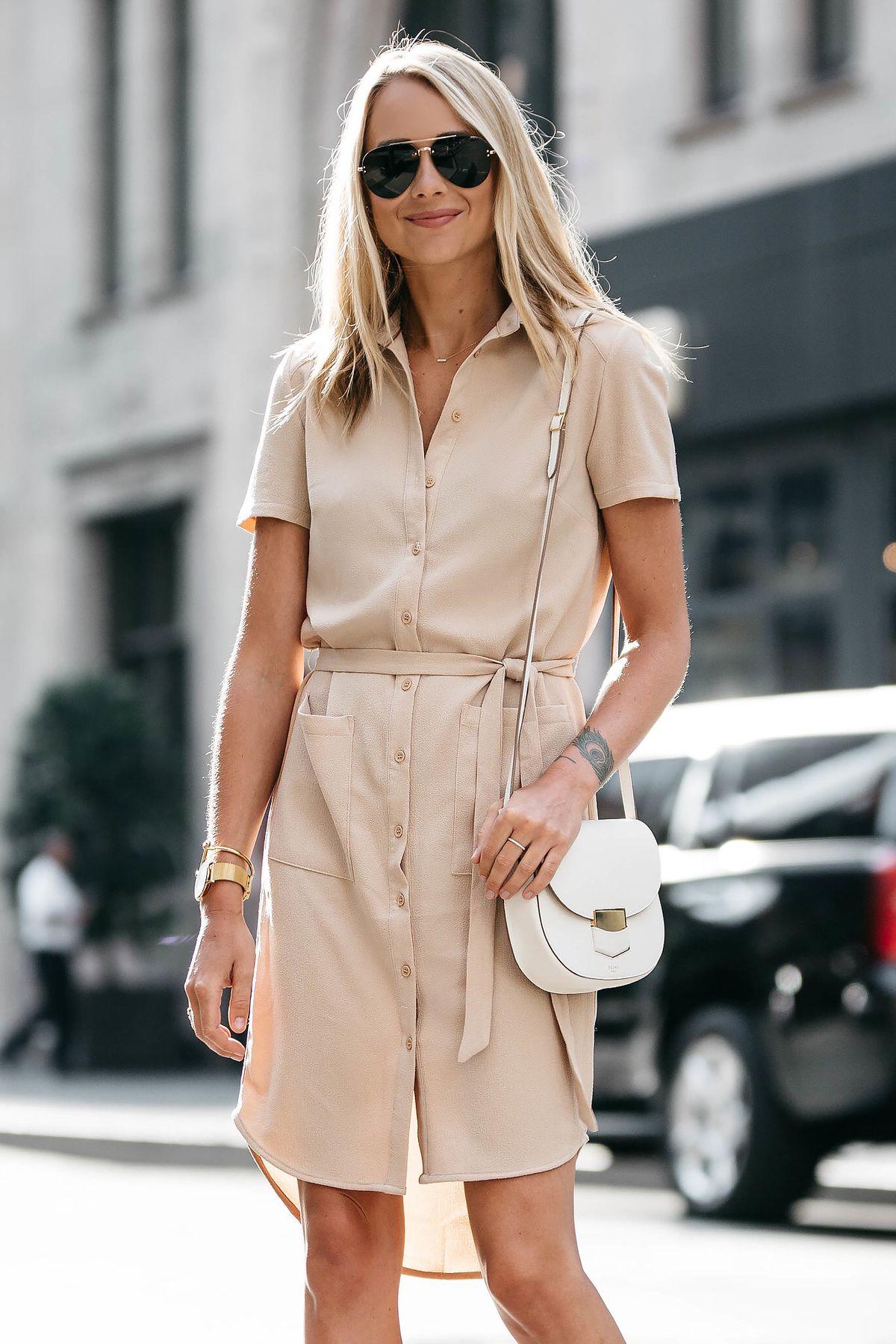 The Perfect Summer Shirt Dress Floratta Moda Evangelica Moda Looks [ 1800 x 1200 Pixel ]