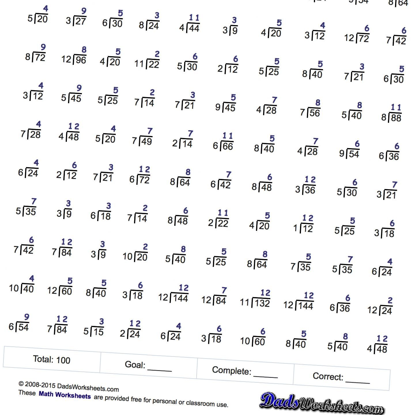 Worksheets Free Math Minute Worksheets these division worksheets are extensions to mad minute and rocketmath worksheet sets they are