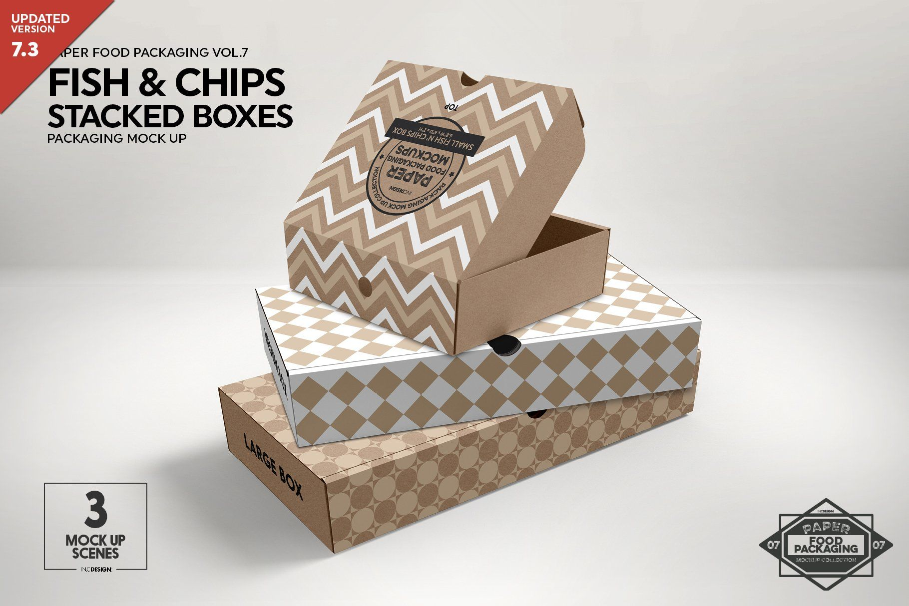 Download Stacked Fast Food Boxes Mockup Packaging Mockup Food Box Packaging Box Mockup