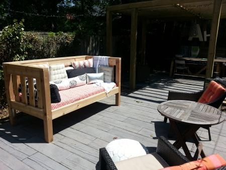 Outdoor Cedar Day Bed Do It Yourself Home Projects from Ana White