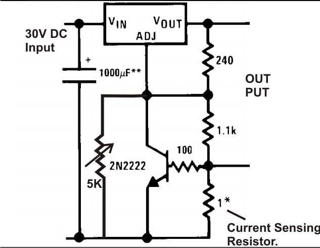 lm 317 power supply with current control