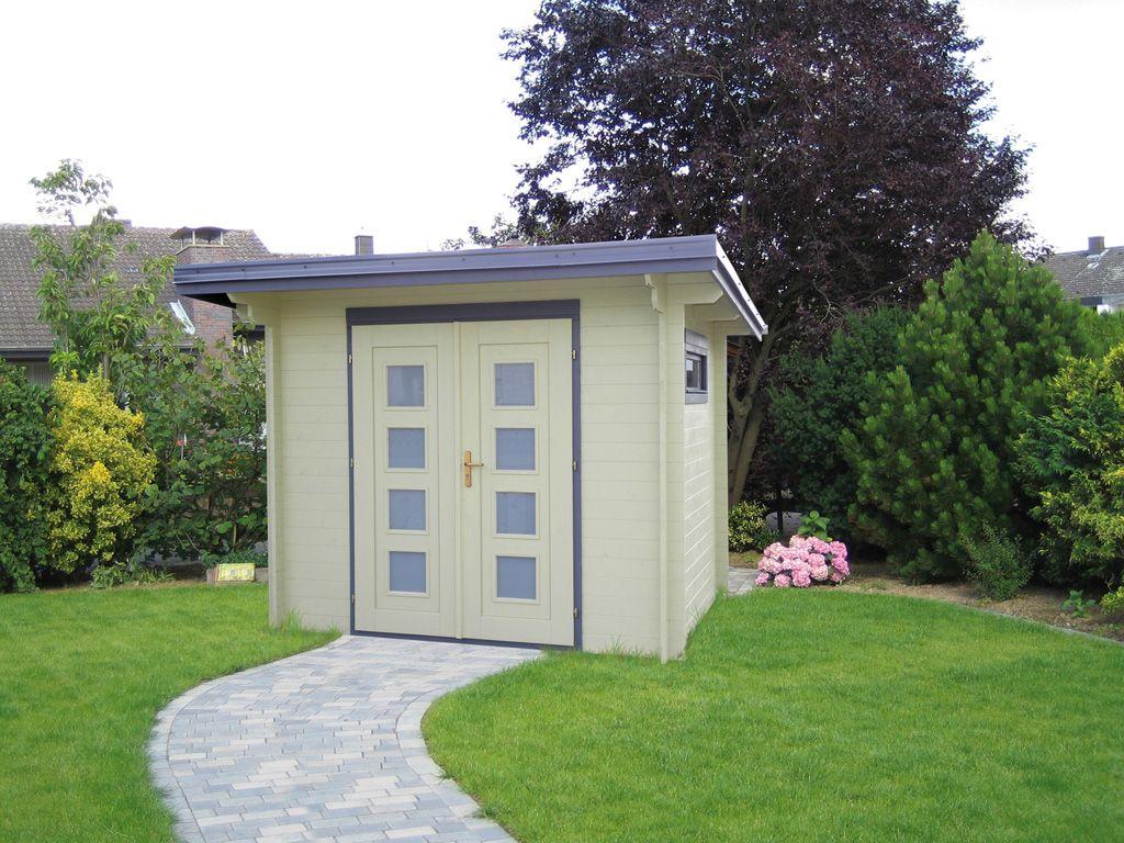 Gartenhaus Holz Mit Pultdach 25 X 20 M
