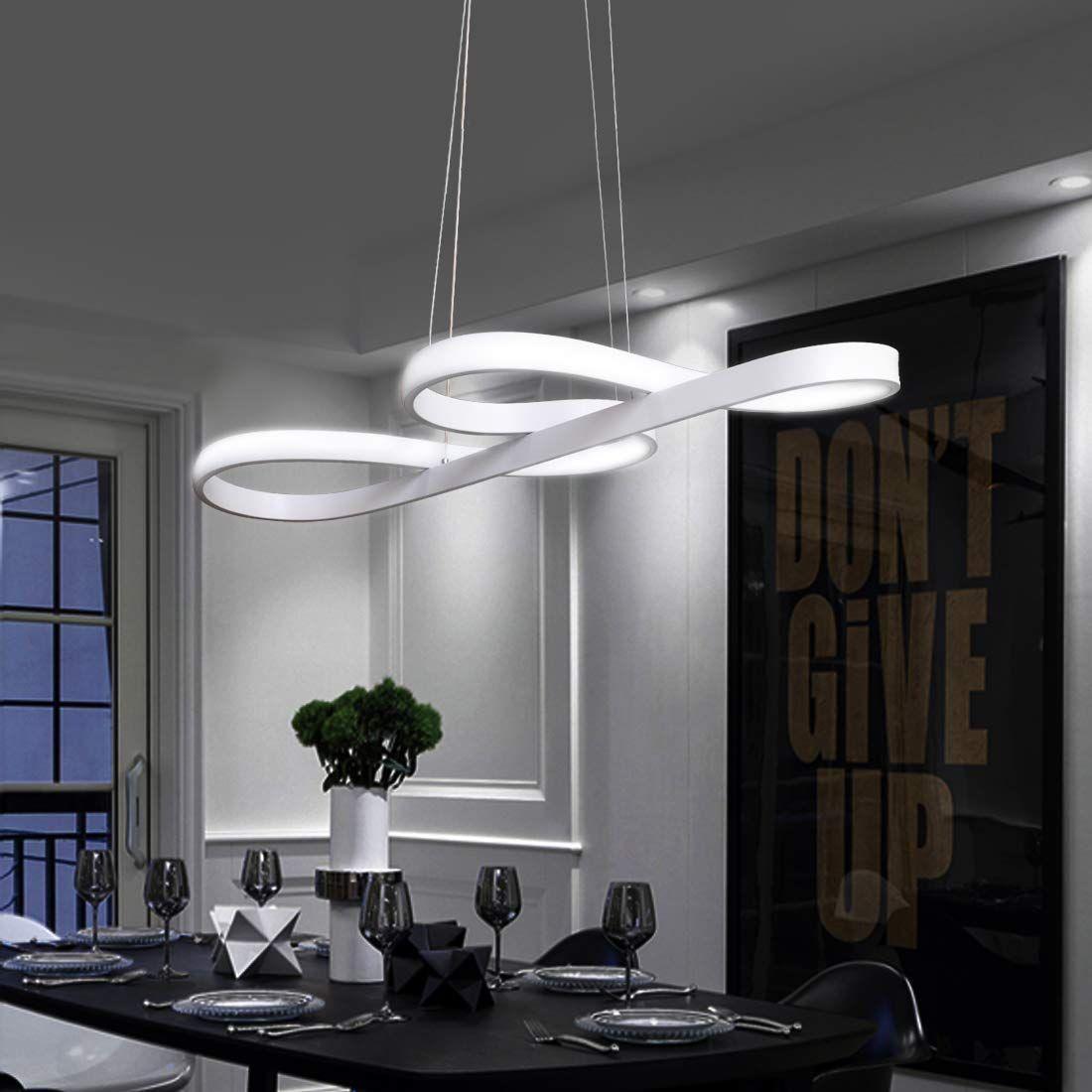 ZMH LED Pendelleuchte esstisch Pendelleuchte Weiß