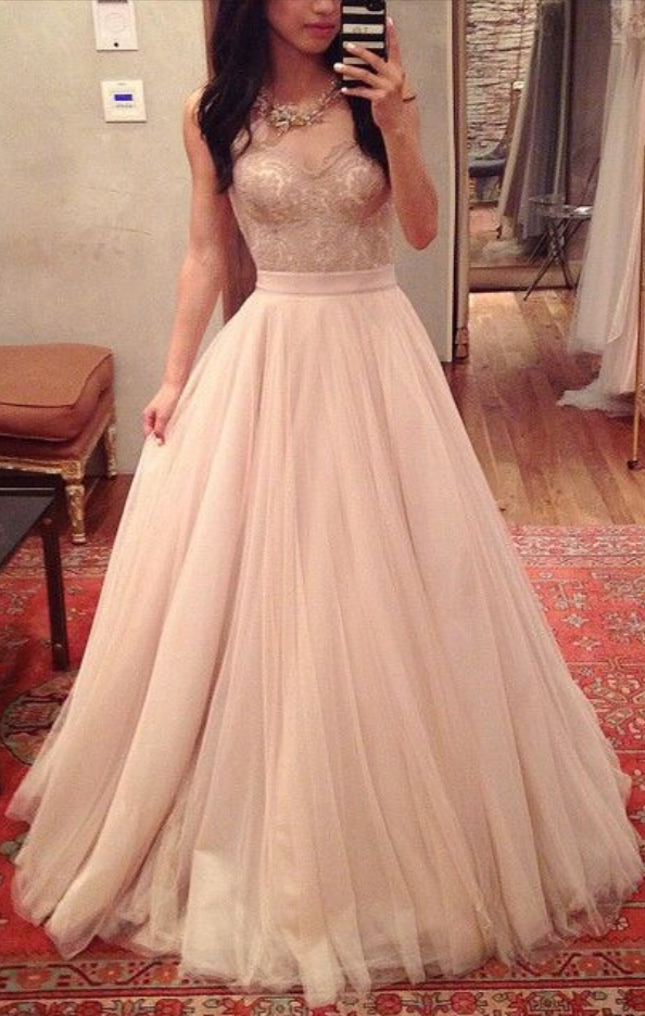 9e3b7a413ef1 Blush Pink Prom Dresses,Ball Gown Prom Dress,Lace Prom Dress,Simple Prom