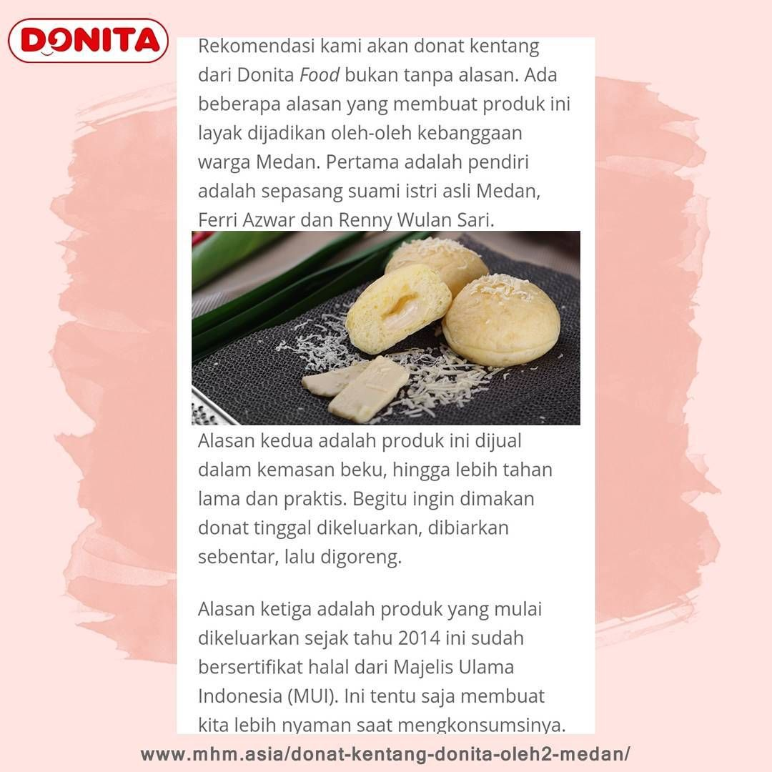 Kenapa Harus Donat Donita Yukk Simak Jawaban Dan Review Dari Makan Halal Medan Berikut Www Mhm Asia Donat Kentang Donita Oleh2 Me Food Fruit Cantaloupe